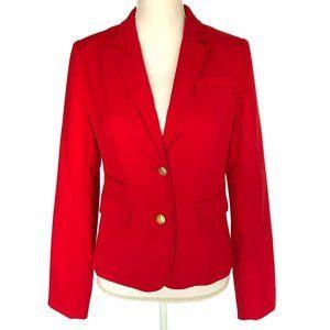 BANANA REPUBLIC FACTORY Red Gold Button Blazer 4